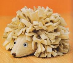 Make a cute hedgehog for your shoe box gift!