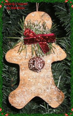 Primitive Gingerbread Ornament