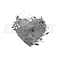 The Best Temporary Fingerprint Heart - By Jen tattoos. Only EasyTatt Fingerprint Heart - By Jen Tattoos Look Real, Use Your Own Design or Choose from Thousands of Designs. Gold Tattoo Ink, Tattoo Ink Colors, Tattoos Skull, Black Ink Tattoos, Fake Tattoos, Small Tattoos, Sleeve Tattoos, Couple Tattoos, Homemade Tattoo Ink