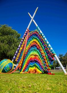 "#29 ""Giant Knitting"" by Yallingup Steiner School recipient of Happs Wines Emerging Artist Award"