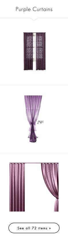 """""""Purple Curtains"""" by lailoooo ❤ liked on Polyvore featuring home, home decor, window treatments, curtains, window, window drapery, target window curtains, window coverings, window panels and windows"""