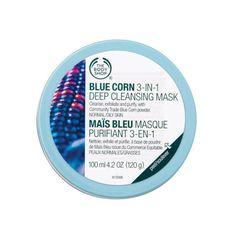 Gesichtsmaske mit blauem Mais und Peelingeffekt | The Body Shop®