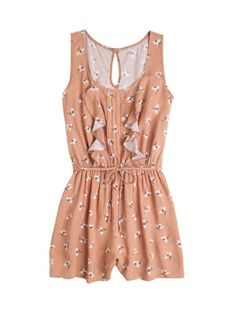 I love this romper! i especially like the white flowers on it. This would make a very chic look complete!