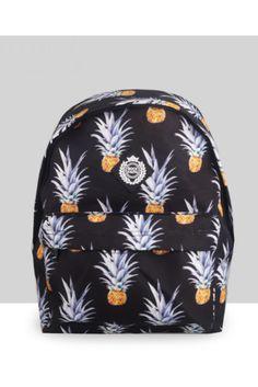 Harajuku Fashion Pineapple Backpack In Black #backpacks #newacc