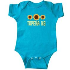 Inktastic Topeka Kansas Sunflower State Infant Creeper Baby Bodysuit Sunflowers Pride Home Hometown Cities City Travel Cute Gift One-piece Hws, Infant Girl's, Size: 24 Months, Blue