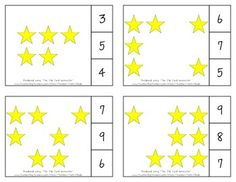Twinkle, Twinkle, Little Star Count & Clip Cards *Common Core Aligned*  There are 12 clip cards. On each card is a set of pictures to count and a choice of three numerals. Learners count the pictures in the set and clip a clothespin to the numeral that corresponds with the number of pictures in the set.  Common Core Standards: CC.K.B.4 CC.K.B.4a CC.K.B.4b CC.K.B.4c CC.K.B.5