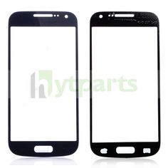 Replacement Front Outer Screen Glass Lens for Samsung Galaxy S4 Mini GT-I9190 Blue
