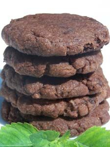 Double Chocolate Mint Vegan Cookies