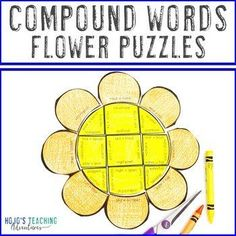 COMPOUND WORDS Flower Puzzles | Spring ELA Literacy Centers or Activities | 3rd, 4th, 5th grade, Activities, English Language Arts, Games, Homeschool, Literacy Center Ideas, Spring, Vocabulary 5th Grade Classroom, Special Education Classroom, Reading Recovery, Ell Students, Compound Words, English Language Arts, Center Ideas, 5th Grades, Literacy Centers