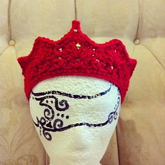 crochet crown pattern-@Brittany Horton Nuxoll, can you add this to princess' stuff?? this would be so cute to get in pictures :)