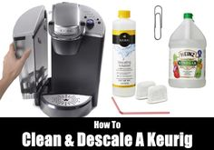 on how do you clean a Keurig? How to descale a Keurig coffee maker Cleaning Keurig With Vinegar, Keurig Cleaning, Coffee Pot Cleaning, Baking Soda Cleaning, Homemade Cleaning Supplies, Diy Cleaning Products, Cleaning Solutions, Descale Keurig, Interior