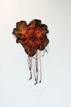 Nnenna Okore Textile Texture, Art Textile, Textiles, Fibre Art, Natural Forms, Felt Flowers, Wearable Art, Paper Art, Art Things