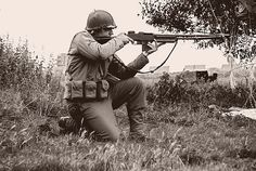 The Browning Automatic Rifle in use. It's just such a great gun!