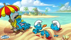 Smurf fun at the beach