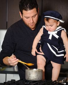 Chef Scott Conant with his daughter Ayla.