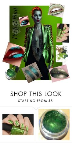 """""""Green Metallic Beauty"""" by scope-stilettos ❤ liked on Polyvore featuring beauty"""