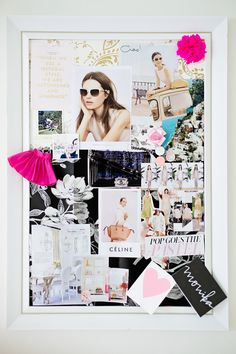 Create a real life pin board: http://www.stylemepretty.com/living/2014/12/08/20-chic-ways-to-organize-your-office/