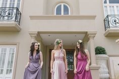 Goddess by Nature bridesmaid gowns exclusive to White Lily Couture. Image: Capture The Moment Photography at Villa on the Beach