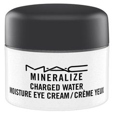 MAC 'Mineralize' Charged Water Moisture Eye Cream ($35) ❤ liked on Polyvore featuring beauty products, skincare, eye care, no color, mac cosmetics, dark circle eye treatment, mineral skin care and puffy eye treatment