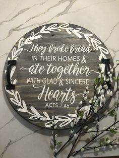Painted Signs, Wooden Signs, Vinyl Projects, Craft Projects, Wood Crafts, Diy Crafts, Wood Circles, Wood Rounds, Lazy Susan