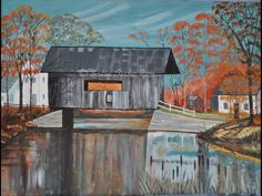 "Please, follow this link and take a look at the website. http://www.sallytiskarice.com/STR/Welcome_1.html Hit the like button for Facebook likes if you approve. Hoping to get up to 500 likes. Please share with your friends.  Covered Bridge Acrylic on 12""x16""stretched canvas,  Rustic dark barn wood frame. $350.00  Prints and phone cases link. http://pixels.com/featured/covered-bridge-sally-rice.html"