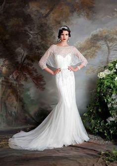 El vintage inspiró Eliza Jane Howell Elsa Wedding Dress | www.onefabday.com
