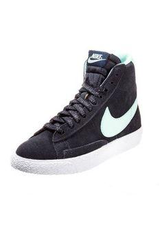 Nike Sportswear BLAZER VINTAGE Sneakers hoog Blauw Jongens Hoge sneakers leer kinderschoenen kinder maat: 18,19,20,21,22,23,24,25,26,27,28,29,30,31,32,33,34 ...