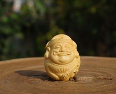 Natural Wood  1pcs Boxwood Carved Blessing Buddha by DaoCaoStudio