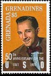 В 1991 году почтовая служба Гренады подготовила марок,  киноартист и певец Бинг Кросби – один из самых успешных исполнителей в США.