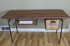 Whimsical Reclaimed Wood Desk Office Desk shown with by iReclaimed