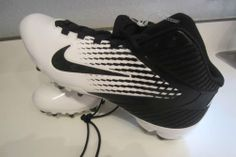 e951fe366ad New Mens Nike Alpha Speed TD 3 4 Mid Football Cleats White   Black Sz