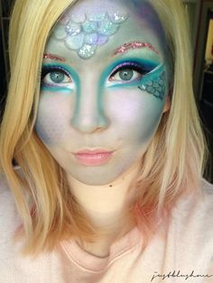 Themenwoche Fasching Karneval Talasia, Mermaid Look, Meerjungfrau Make Up