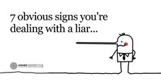 signs youre dealing with liar