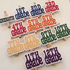 Graduation Photo Clips - Kindergarten through 12th Grade - Graduation Decoration - Class of 2015 - 2015 Graduate - Graduation Party - 2015 by DecorateYourBigDay on Etsy https://www.etsy.com/listing/222290635/graduation-photo-clips-kindergarten