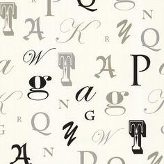 Manuscript Cream Letter Font Wallpaper