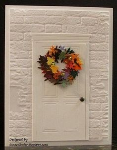 Pretty wreath, though personally I feel the background is too plain...it IS possible to give the door some color without taking attention away from the wreath. Autumn Wreath