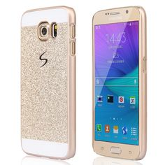 Gold glittery phone case for Samsung Galaxy S6  available at www.pinkship.bigcartel.com