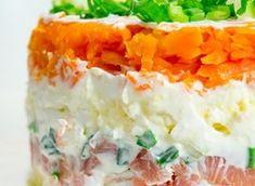 Kārtainie salāti ar kūpinātu lasi un lociņiem :: Salāti :: Stilaparks.lv - Portāls sievietēm