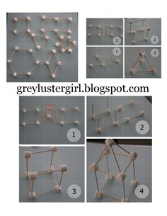 Step-by-step picture instructions for a Marshmallow and Toothpick building kit. Homemade Travel Gift Ideas for Kids by greylustergirl