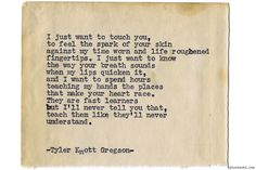 Typewriter Series #1141 by Tyler Knott Gregson*Chasers of the Light, is available through Amazon, Barnes and Noble, IndieBound , Books-A-Million , Paper Source or Anthropologie *