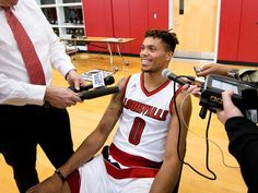Damion Lee University of Louisville Men's Basketball Media Day at the Yum! Practice Facility.