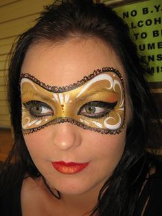 Gold Mask Face Paint,  Go To www.likegossip.com to get more Gossip News!