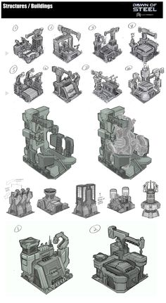 ArtStation - Dawn of Steel - Structures / Buildings, Michael Maurino
