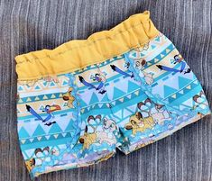 Disney Inspired 2T 3T 4T 5T 5 6 7 8 10 12  Shorts Set Vacation Cruise Blue Bambi