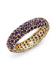 Amethyst ring, Saks, love this different kind of pave'