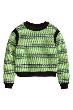 Suéter en punto con estructura