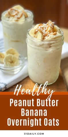 Vegetarian Gluten free · Serves 2 · Peanut Butter Banana Overnight Oats are an easy, healthy, protein-packed breakfast with 5 minutes prep and 6 ingredients. Naturally sweet, hearty, and utterly delicious. Quick Oat Recipes, Gluten Free Recipes For Breakfast, Delicious Breakfast Recipes, Oatmeal Recipes, Easy Waffle Recipe, Waffle Recipes, Brunch Recipes, Snack Recipes, Healthy Protein