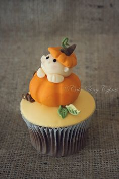 Little pumpkin baby shower cupcakes