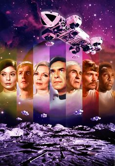 Space:1999 Season 1. Digital artwork by Alistair McGown © 2018. Starring Martin Landau, Barbara Bain, Barry Morse, Prentis Hancock, Nick Tate, Zienia Merton and Clifton Jones. Sci Fi Tv Shows, Sci Fi Series, Tv Series, Cosmos 1999, Science Fiction, Tv Vintage, Tv Movie, Classic Sci Fi, Great Tv Shows