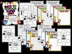Ginger Snaps: SUPER Back to School Unit and Activities